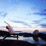 Sunset yoga in Victoria, B.C.