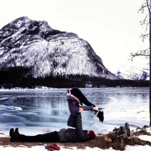 Acro Yoga in the Rocky Mountains