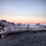 One leg bow variation in La Push, Washington