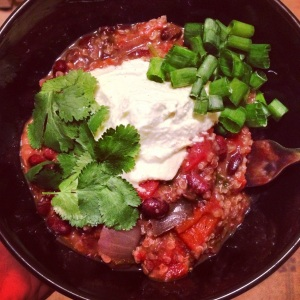 Avocado Cashew Cream with Quinoa Black Bean Stew