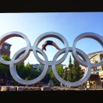 Full Wheel in the Olympic Rings in Whistler at Wanderlust 2014