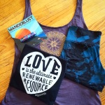 "Wanderlust Purchases: Daub + Design Shorts, Blissology ""Love is the Ultimate"" Tank, and Mandala Tank from Alexis Guerin."