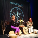 Natalie Rousseau and Tina James During their Speakeasy at Wanderlust Whistler 2014