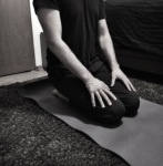Entry into childs pose, yin yoga by Domestikatie Katie Thacker
