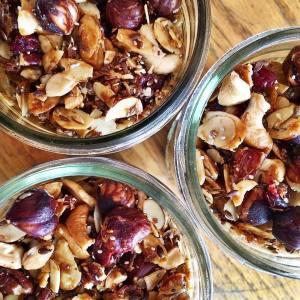 gluten free, oat free, vegan  granola